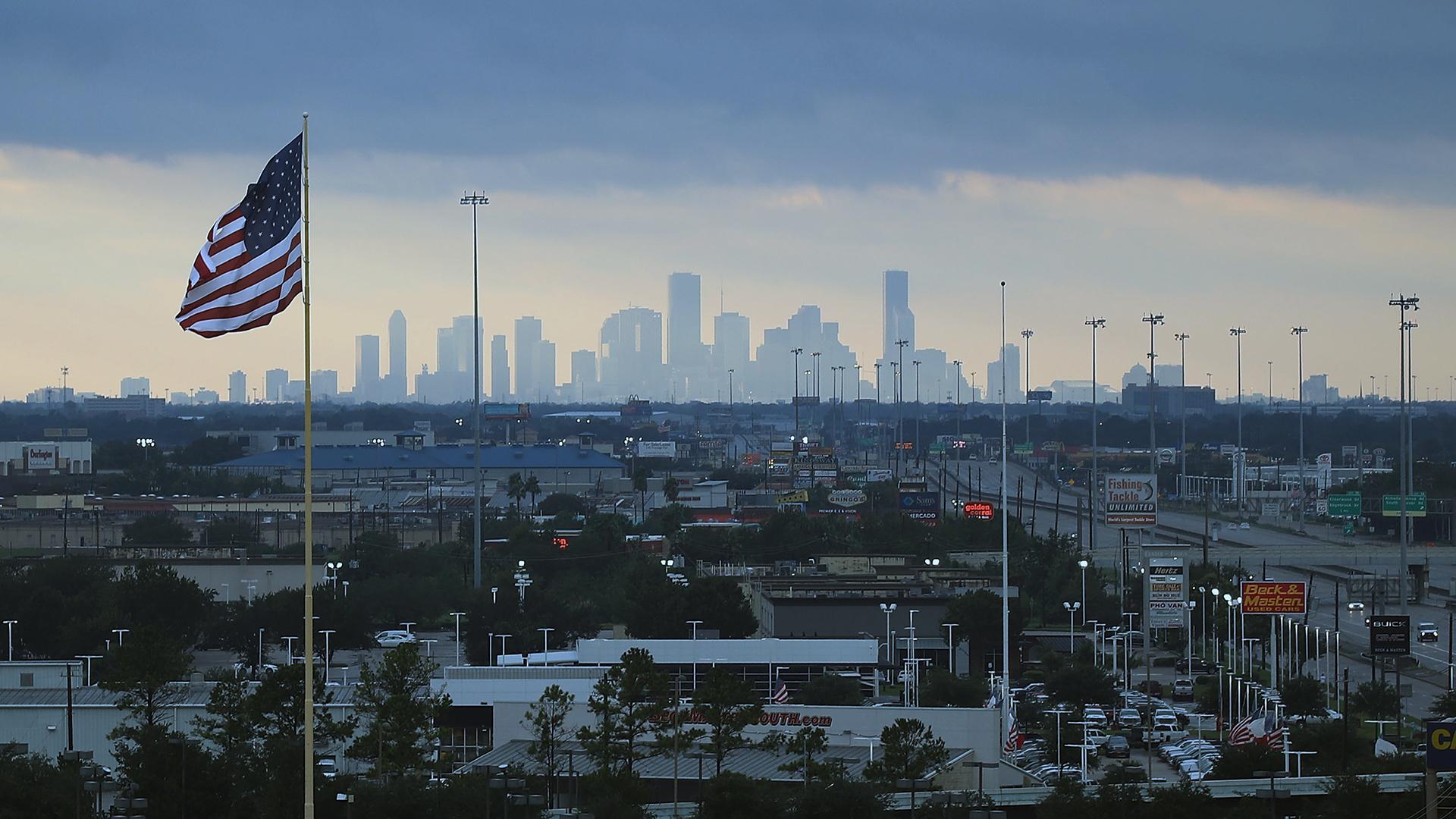 Houston skyline on Aug 29 2017 after Hurricane Harvey-159532.jpg65823662