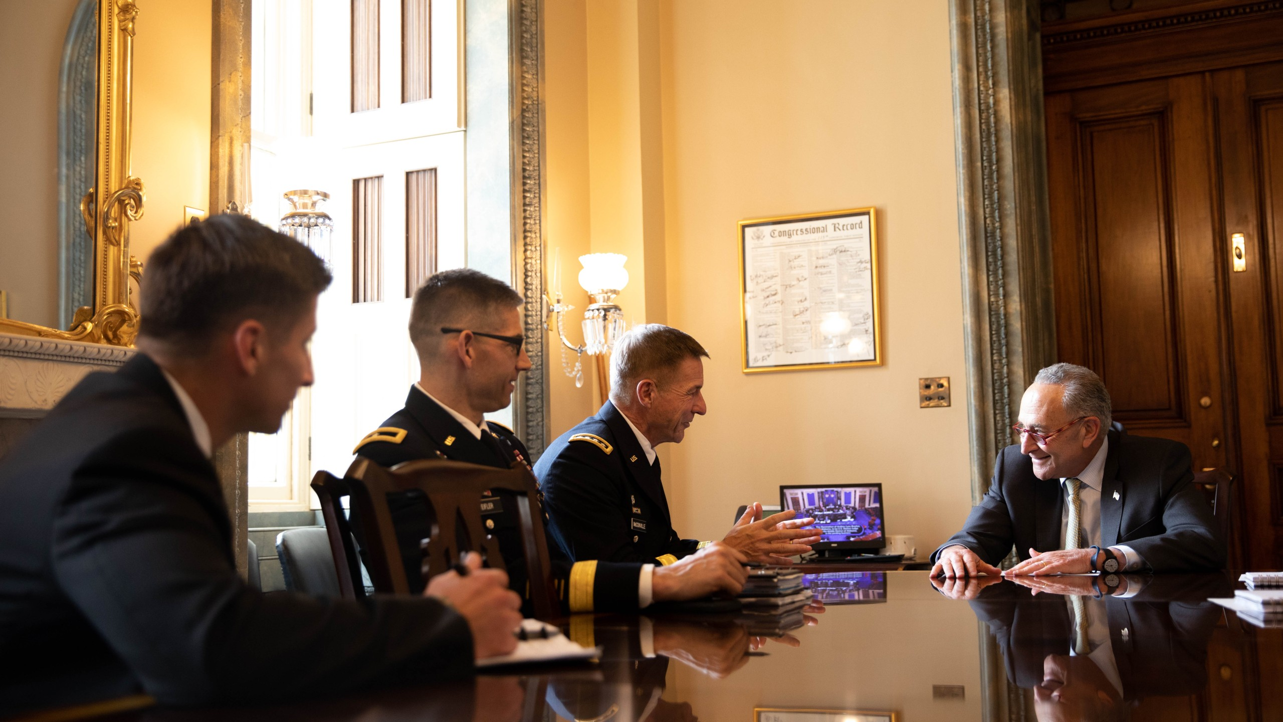 In meeting with Army Chief of Staff nominee McConville