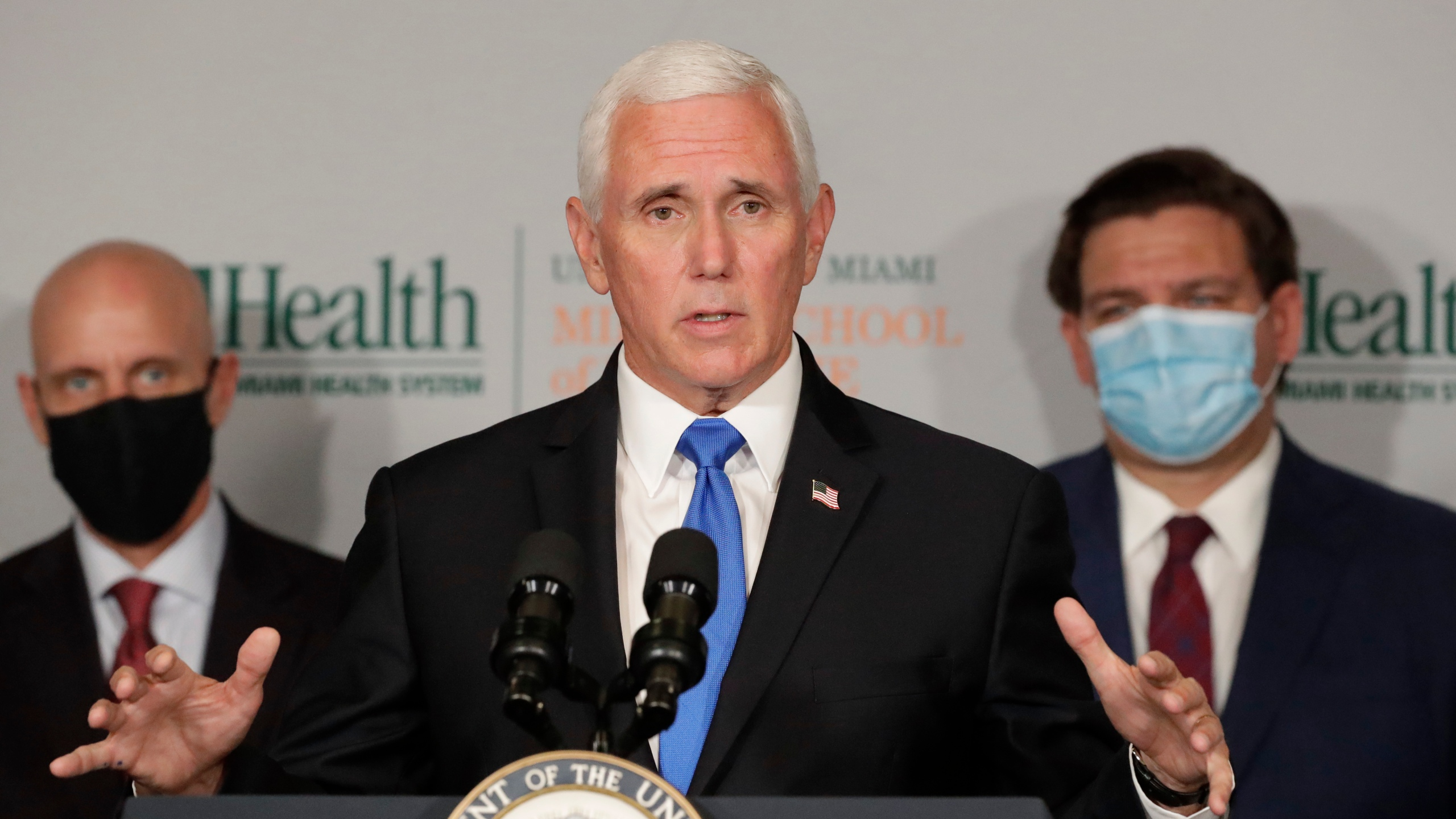Mike Pence, Ron DeSantis, Stephen Hahn