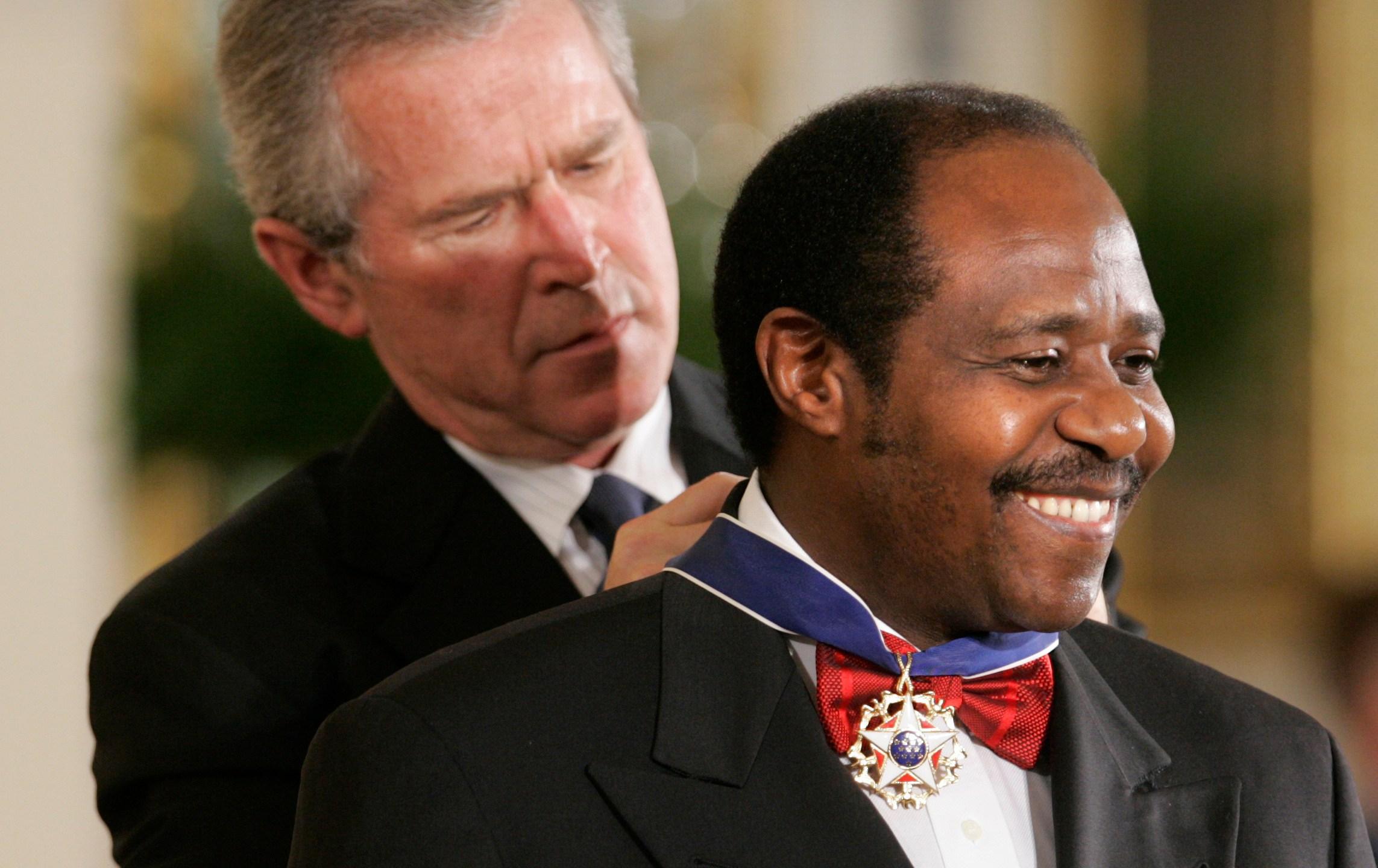 President Bush, Paul Rusesabagina, BUSH RUSESABAGINA