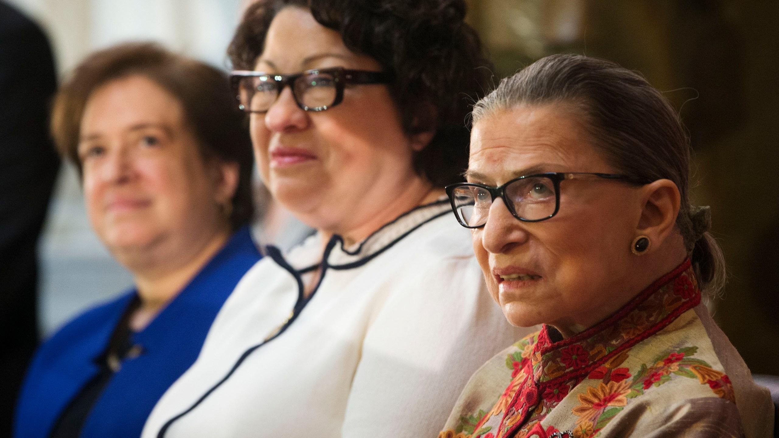 Ruth Bader Ginsburg, Sonia Sotomayor, Elena Kagan,