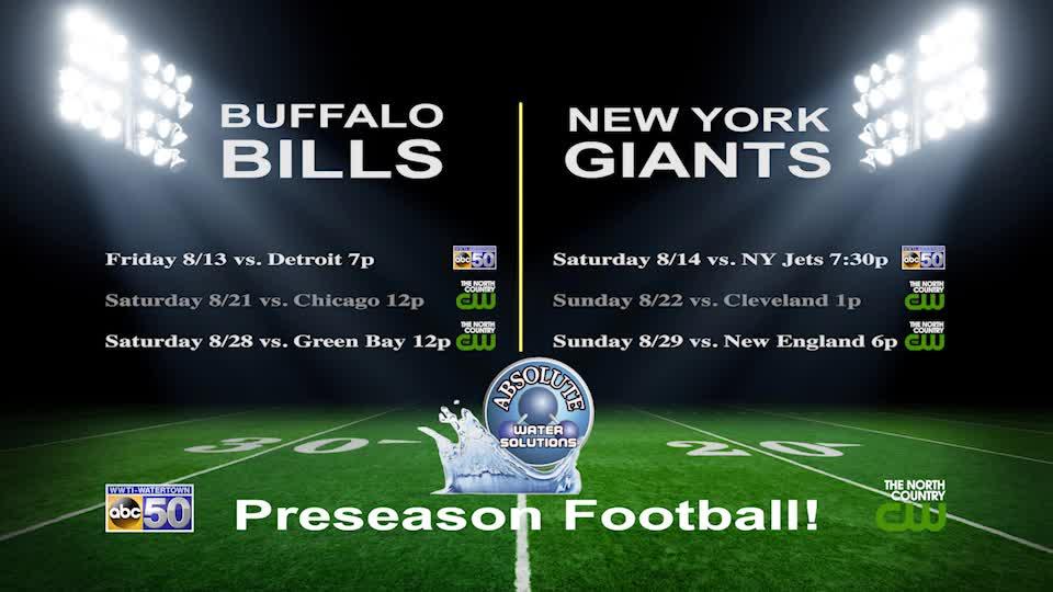 Preseason football starts August 13 on ABC50